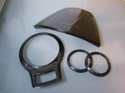 画像1: TEZZO STYLE ドライカーボンメーターフード