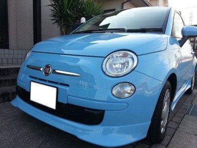 画像1: 【生産終了】TEZZOフロントリップスポイラー for Fiat500 Series《14.01.11更新》
