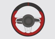 アバルト124スパイダー ステアリング