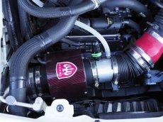 画像2: TEZZO カーボンエアインテークシステム for アバルト124スパイダー スペシャルレッドver.2 (2)