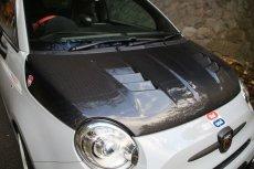 画像4: TEZZO RT1カーボンボンネットforアバルト500/595(取付工賃込) (4)