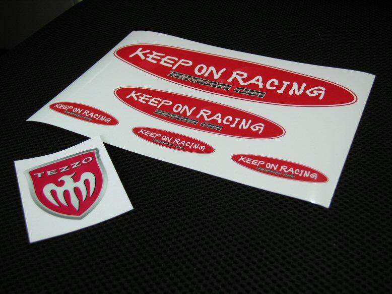 画像1: KEEP ON RACINGステッカーシート + TEZZOエンブレムステッカー (1)